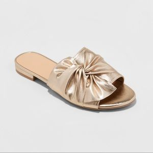 Women's Huntress Metallic Knotted Slide Sandals-B1
